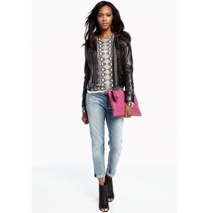 Marc New York Andrew Marc Mila Knit Leather Jacket